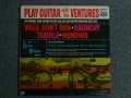 PLAY GUITAR WITH THE VENTURES  Dark Blue With Silver Print Label