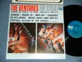 THE VENTURES ON STAGE   Blue with Black Print  Label