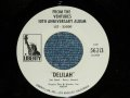 DELILAH : FROM THE VENTURES 10TH ANNIVERSARY ALBUM  (Promo Only Same Flip : Mono-Stereo )