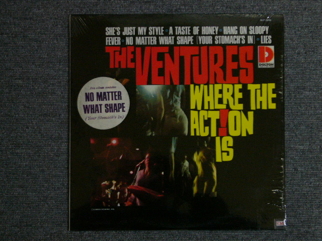 画像1: WHERE THE ACTION IS Dark Blue With/Silver Print Label With Song Titel Sticker On Front Cover