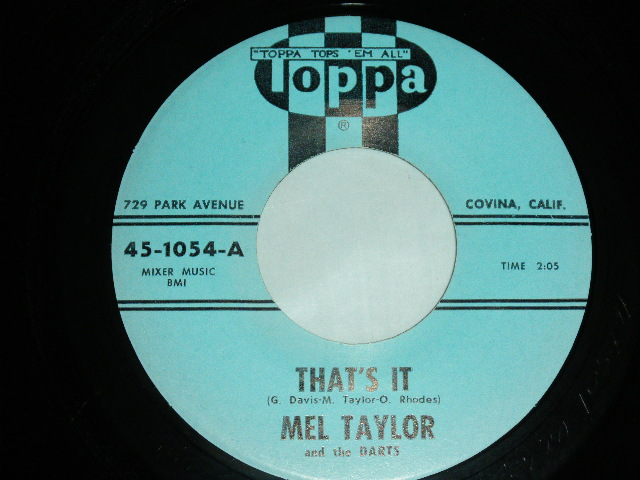 画像1: MEL TAYLOR - THAT'S IT / DRUM FEVER