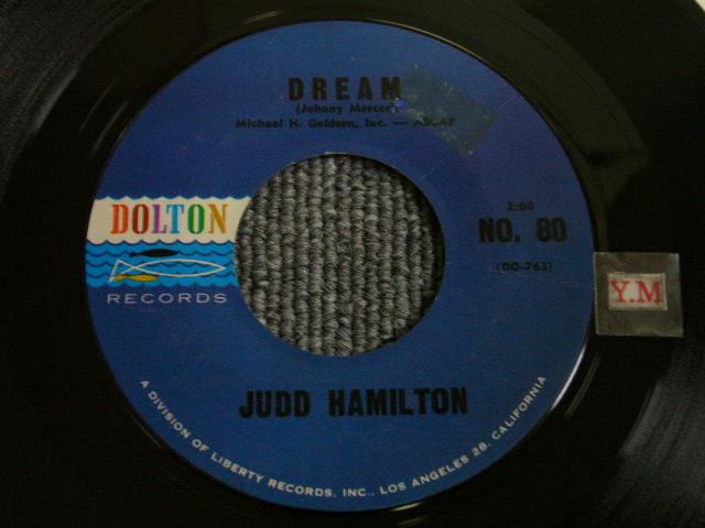 画像1: JUDD HAMILTON - DREAM / YOUR ONLY LOVE US ORIGINAL