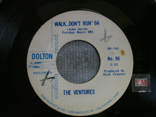 画像1: WALK, DON'T RUN '64 / THE CRUEL SEA Audition White Label
