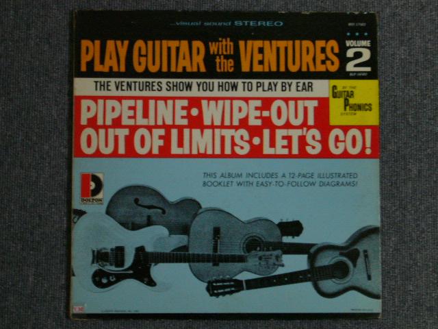"""画像1: PLAY GUITAR WITH THE VENTURES Volume 2 """"D"""" Mark Label"""
