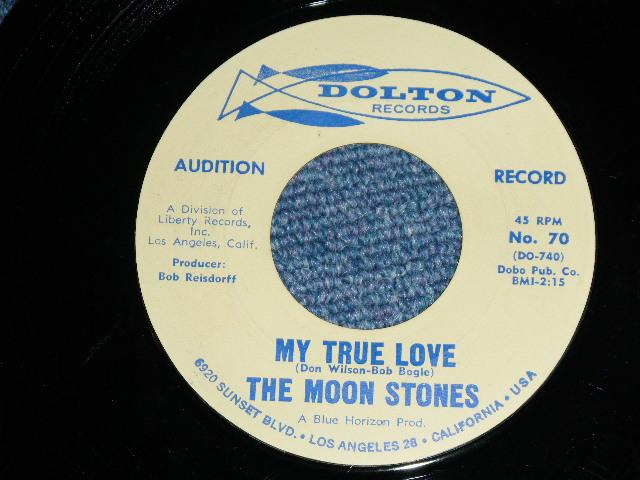 """画像1: THE MOON STONES ( BOB BOGGLE & DON WILSON WORKS of THE VENTURES ) - MY TRUE LOVE / LOVE CALL  1963 US ORIGINAL Audition Label PROMO 7""""45's Single"""