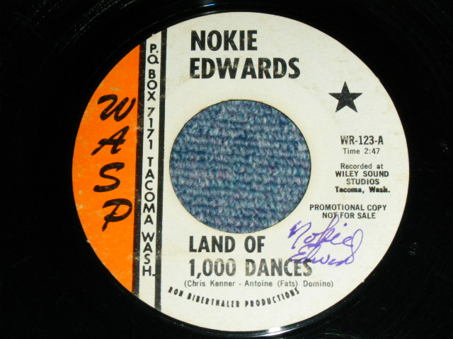 画像1: NOKIE EDWARDS  -  LAND OF 1,000 DANCES /  MUDDY MISSISSIPPI LINE : With 60's AUTOGRAPHED SIGN by NOKIE