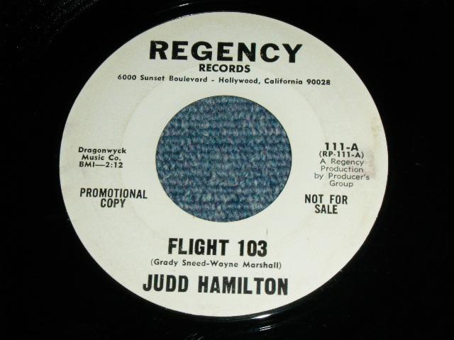 画像1: JUDD HAMILTON - FLIGHT 103 / INITIALS ON A TREE :  US ORIGINAL WHITE LABEL PROMO