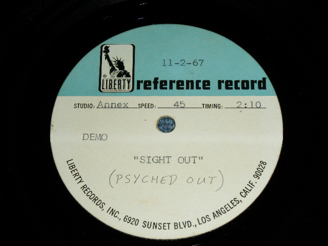 "画像1: THE VENTURES - SIGHT OUT ( PSYCHED OUT : DEMO VERSION ) : 1960's US ORIGINAL  TEST PRESS for ACCETATE 8"" Single"