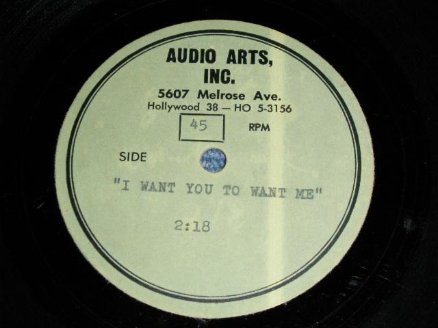 """画像1: DON LEE WILSON - I WANT YOU TO WANT ME   ( ONE SIDED Disc : UNRELEASED DIFFERENT VERSION )  : 1960's US ORIGINAL  TEST PRESS for ACCETATE 8"""" Single"""