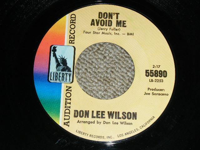 画像1: DON LEE WILSON -  DON'T AVOID ME  / SALLY    :  1966  US ORIGINAL Audition Promo 7 Single