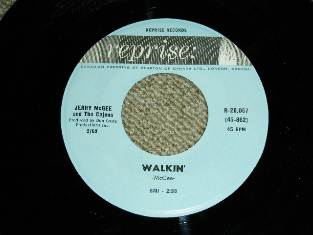 "画像1: JERRY McGEE- WALKIN' / BLUES TRAIN  : 1963?  US ORIGINAL Rare ""BLUE Label"" 7""Sinlge"