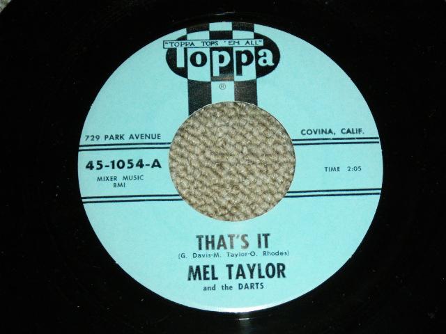 """画像1: MEL TAYLOR - THAT'S IT / DRUM FEVER  : 1962? US ORIGINAL 7""""Single"""