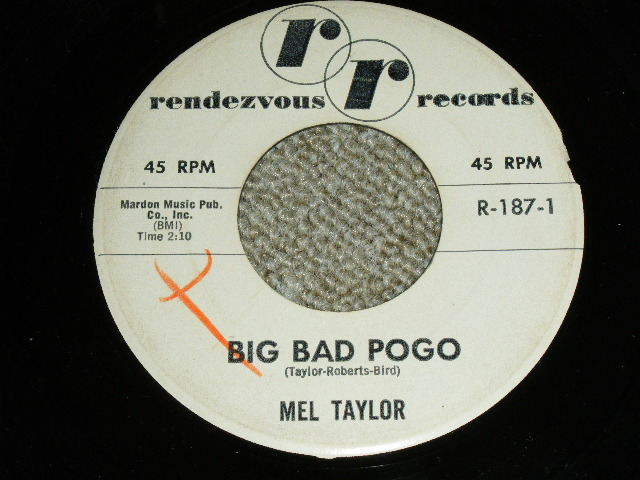 "画像1: MEL TAYLOR - BIG BAD POGO / DRUM STICK  :  1962 US ORIGINAL 7"" Single"