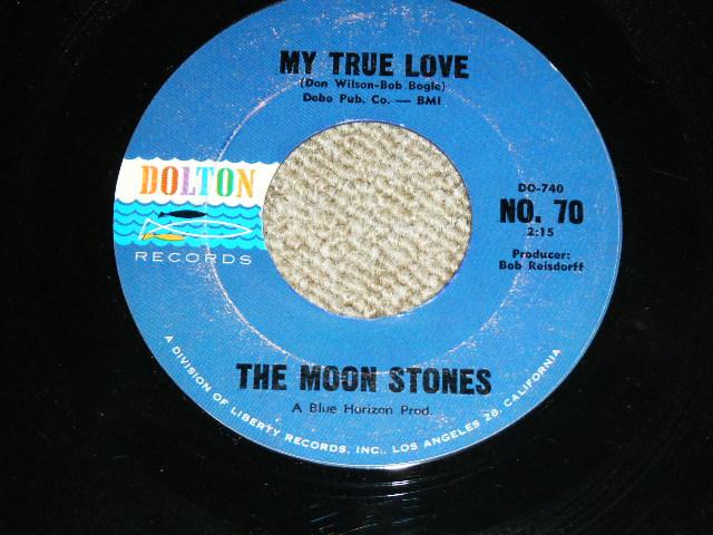 """画像1: THE MOON STONES ( BOB BOGLE & DON WILSON WORKS of THE VENTURES ) - MY TRUE LOVE / LOVE CALL 1963 US ORIGINAL Black Print 7""""45's Single"""