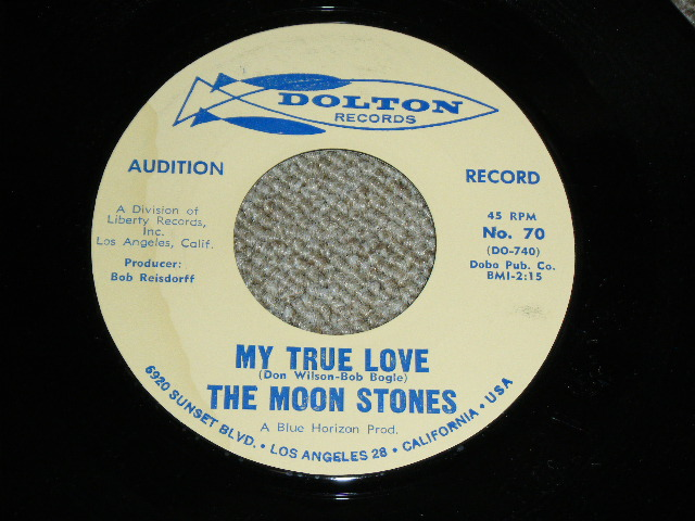 """画像1: THE MOON STONES ( BOB BOGLE & DON WILSON WORKS of THE VENTURES ) - MY TRUE LOVE / LOVE CALL 1963 US ORIGINAL Audition Label PROMO 7""""45's Single"""