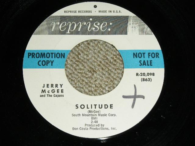 """画像1: JERRY McGEE- SOLITUDE / JAM UP : 1963?  US ORIGINAL Rare """"WHITE LABEL PROMO"""" 7""""Sinlge"""