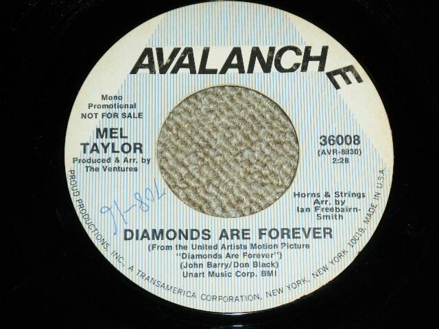 """画像1: MEL TAYLOR - DIAMOND ARE FOREVER  / DIAMOND ARE FOREVER  :  US ORIGINAL PROMO ONLY SAME FLIP 7"""" SINGLE"""