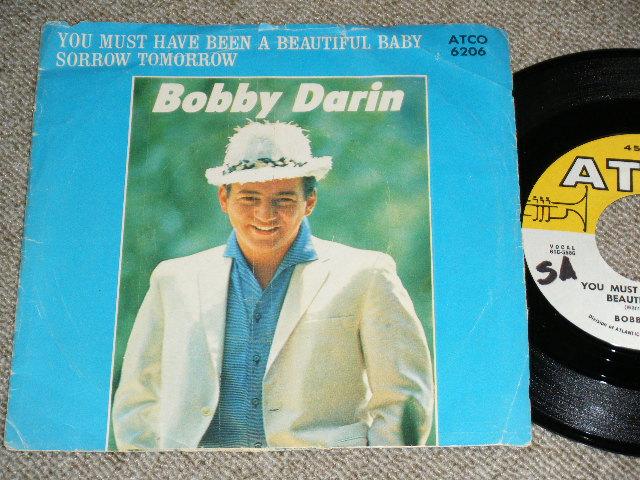 """画像1: BOBBY DARIN ( on Guitar JERRY McGEE ) - SORROW TOMORROW / YOU MUST HAVE BEEN A BEAUTIFUL BABY  : 1961  US ORIGINAL  7""""Sinlge"""