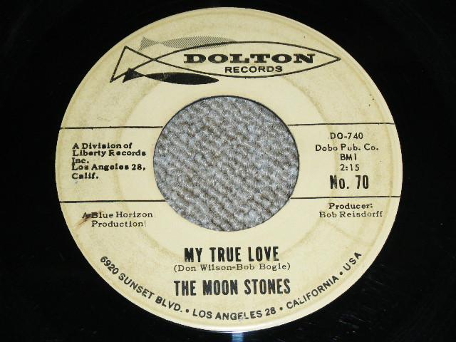 """画像1: THE MOON STONES ( BOB BOGLE & DON WILSON WORKS of THE VENTURES ) - MY TRUE LOVE / LOVE CALL 1963 US ORIGINAL Audition Label PROMO Black Print 7""""45's Single"""