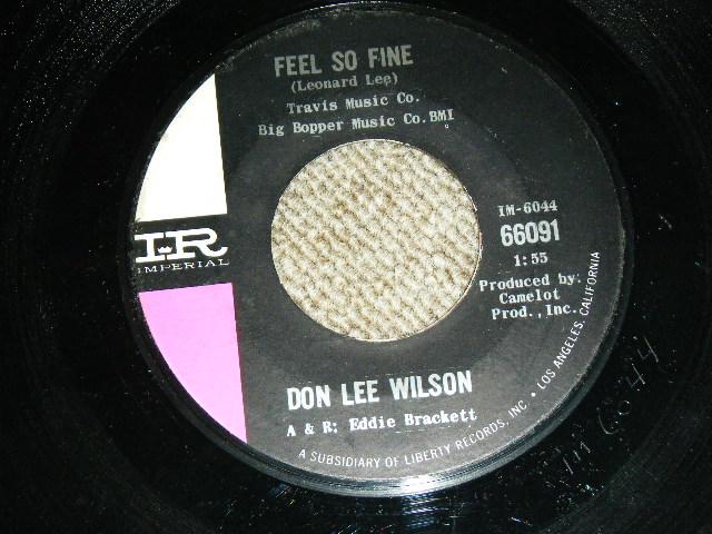 画像1: DON LEE WILSON -  FEEL SO FINE / ANGEL        1965  US ORIGINAL Stock Copy 7 Single