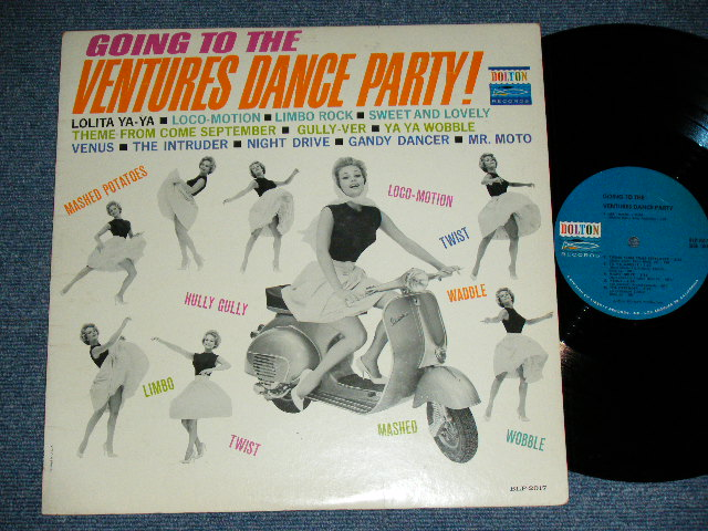 画像1: GOING TO THE VENTURES DANCE PARTY  BLUE with BLACK PRINT LABEL  MONO