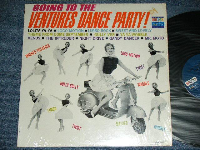 画像1: GOING TO THE VENTURES DANCE PARTY Dark BLUE with BLACK PRINT LABEL  MONO
