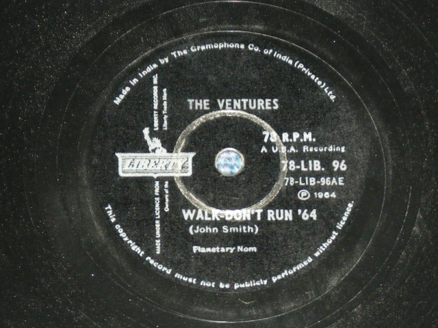 画像1: WALK, DON'T RUN '64 / THE CRUEL SEA    - INDIA  ORIGINAL 78rpm SP