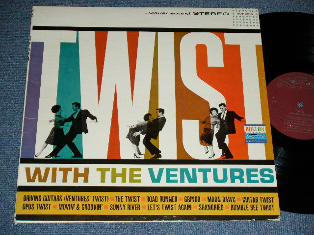 画像1: TWIST WITH THE VENTURES : CANADA Press MAROON LABEL