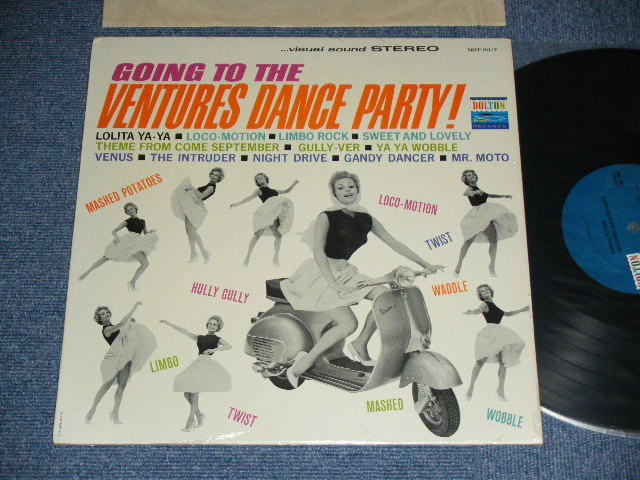 画像1: GOING TO THE VENTURES DANCE PARTY ; 1964 ,Maybe BLUE with BLACK Print  LABEL