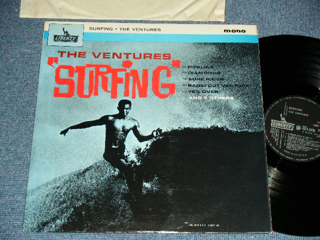 "画像1: ""SURFING""  UK UNITED KINGDAM / ENGLAND Pressings BLACK Label : With SMALL ""MONO"" PRINT on FRONT COVER"