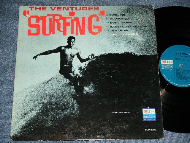 """画像1: """"SURFING""""   BLUE With BLACK PRINT LABEL"""
