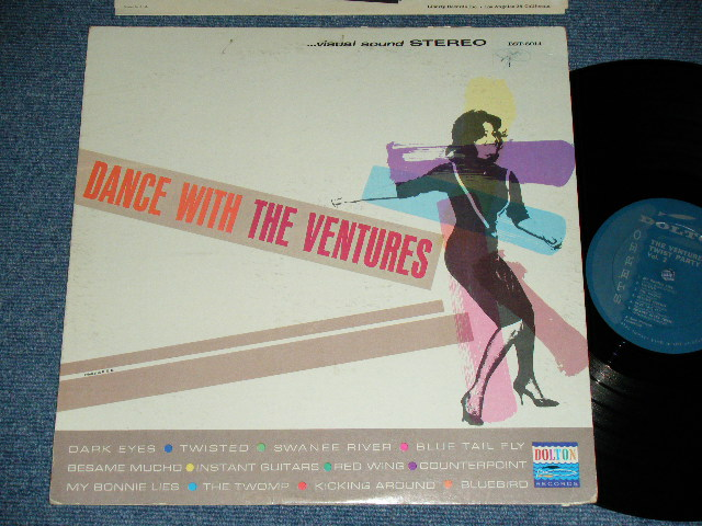 画像1: DANCE WITH THE VENTURES   TURQUOISE GREEN  LABEL  Stereo