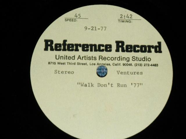 """画像1: THE VENTURES - WALK DON'T RUN '77 / HAUNTING MEMORIES  : 1977 US ORIGINAL  TEST PRESS for ACCETATE 10"""" Single"""