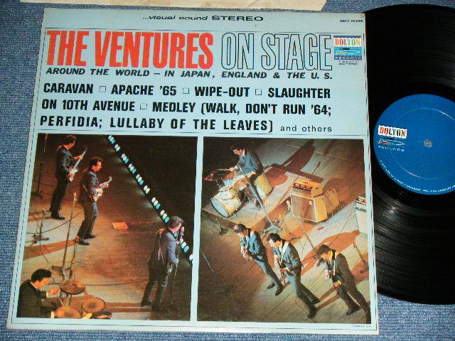 画像1: THE VENTURES ON STAGE     Dark Blue with Silver Print Label STEREO