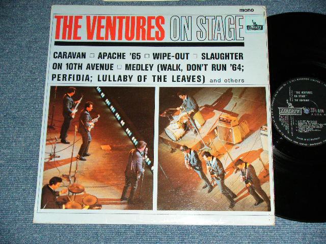 画像1: THE VENTURES ON STAGE   Black With Silver Print label  Label
