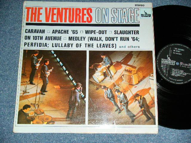 画像1: THE VENTURES ON STAGE   Black With Silver Print label  Label  STEREO