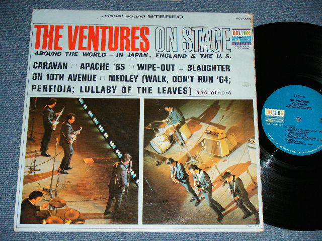 画像1: THE VENTURES ON STAGE   Blue with Black Print  Label STEREO
