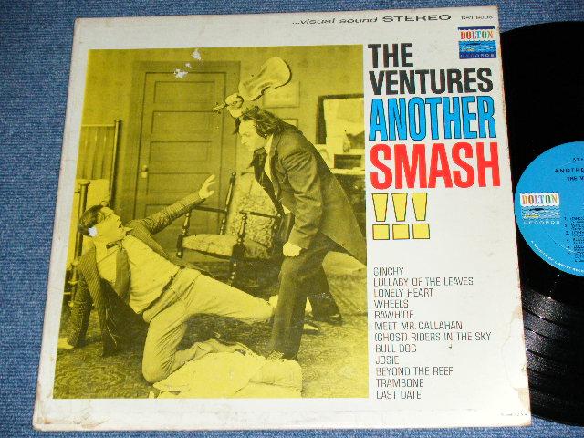 """画像1: ANOTHER SMASH    """"TWO MEN with VIOLIN COVER"""" BLUE with BLACK PRINT   LABEL"""