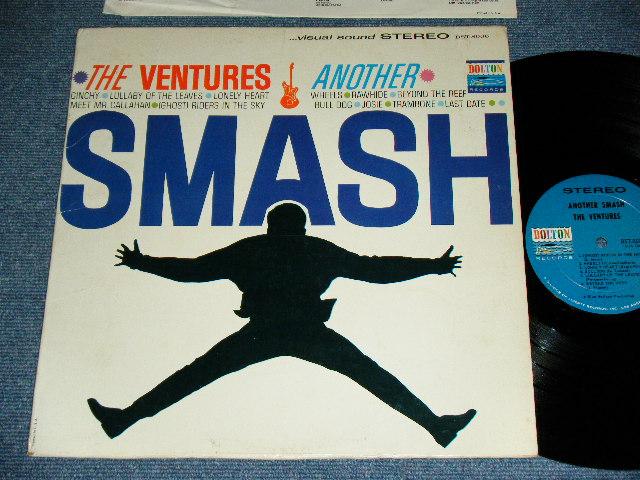 """画像1: ANOTHER SMASH   2nd Issued """"SILHOUETTE  or SHADOW COVER""""  BLUE with BLACK PRINT Label"""