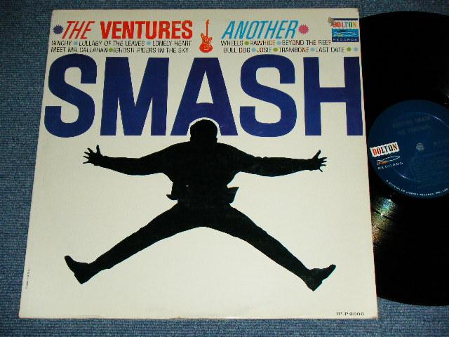 """画像1: ANOTHER SMASH   2nd Issued """"SILHOUETTE  or SHADOW COVER""""  DARK BLUE with SILVER PRINT   Label"""