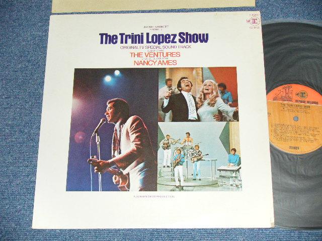 """画像1: TRINI LOPEZ SHOW   1970 US AMERICA  ORIGINAL  """"ORANGE & BROWN"""" LABEL"""