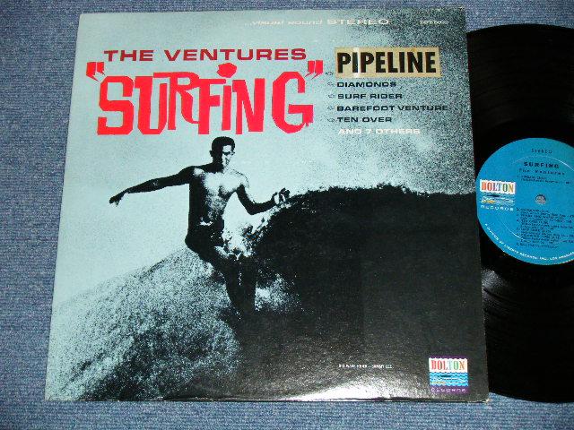 """画像1: """"SURFING"""" DARK BLUE W/BLACK PRINT LABEL With PIPELINE STICKER ON FRONT COVER  Matrix Number BST-8022 S1/ BST-8022 S2"""