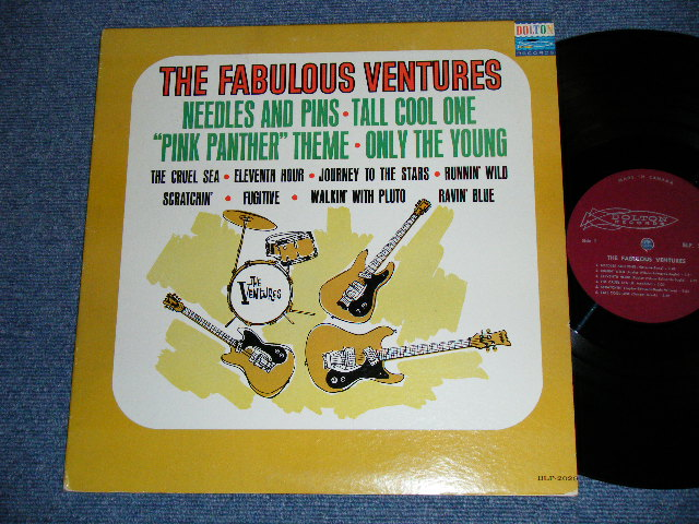 "画像1: THE FABULOUS VENTURES   CANADA CANADIAN ""MAROON LABEL""    Maybe...2nd Press Label"