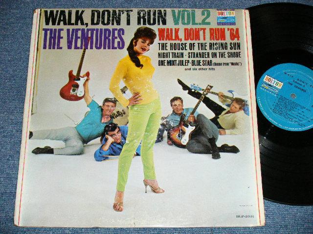 """画像1: WALK DON'T RUN VOL.2 : 2nd press Jacket NON SWEAT SHIRT Version  1965 US AMERICA ORIGINAL """"BLUE with BLACK PRINT Label""""  MONO"""