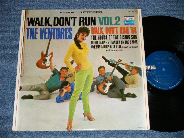 """画像1: WALK DON'T RUN VOL.2 : SWEAT SHIRT Version  1964 US AMERICA ORIGINAL """"DARK BLUE with SILVER PRINT Label"""" STEREO"""