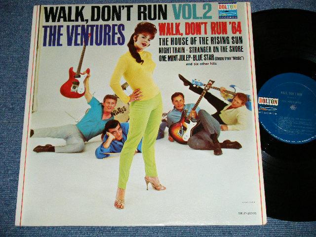 """画像1: WALK DON'T RUN VOL.2 : 2nd press Jacket NON SWEAT SHIRT Version  1964 US AMERICA ORIGINAL """"DARK BLUE with SILVER PRINT Label""""  MONO"""