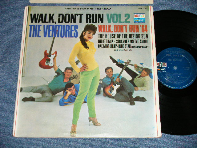 "画像1: WALK DON'T RUN VOL.2 : SWEAT SHIRT Version  1964 US AMERICA ORIGINAL ""DARK BLUE with SILVER PRINT Label"" STEREO"