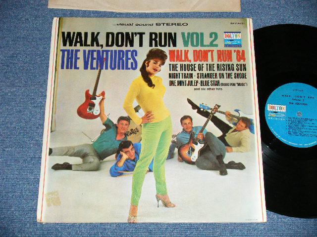 """画像1: WALK DON'T RUN VOL.2 : SWEAT SHIRT Version  1964 US AMERICA 2nd press Version  """"BLUE with BLACK PRINT Label"""" STEREO"""
