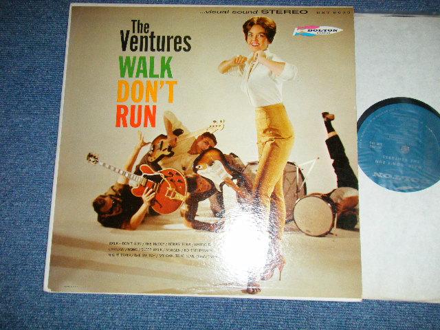 """画像1: WALK,DON'T RUN    1st Press """"TURQUOISE with SUNSET Los Angeles Address Label"""" STEREO"""