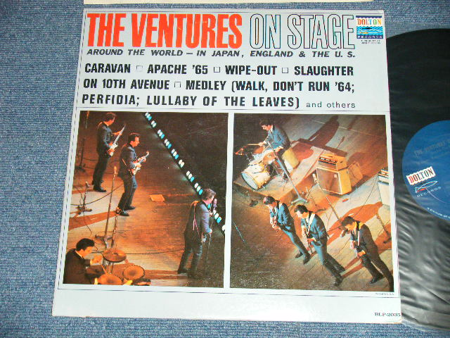 画像1: THE VENTURES ON STAGE   Dark Blue with Silver Print  Label